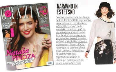 Očala Neubau in revija Grazia